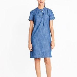 J Crew Factory Denim Chambray Shirtdress 4